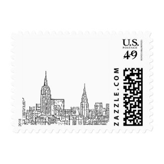 NYC Skyline Postage