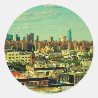 NYC Skyline round sticker