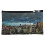 NYC Skyline: Scary massive derecho storm cloud Makeup Bag