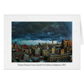 NYC Skyline: Scary massive derecho storm cloud Card