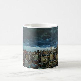 NYC Skyline: Scary massive derecho storm cloud Coffee Mug