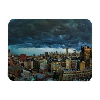 NYC Skyline: Scary massive derecho storm cloud Rectangular Photo Magnet