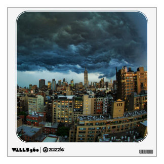 NYC Skyline: Scary massive derecho storm cloud Wall Decor