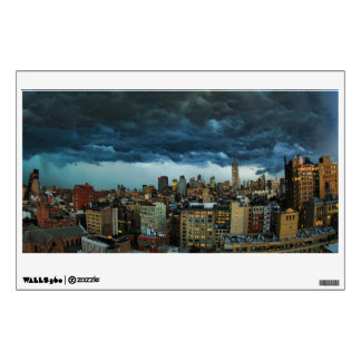 NYC Skyline: Scary massive derecho storm cloud Wall Graphics