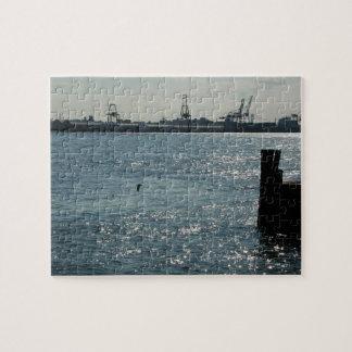 NYC Skyline Sea City Blues Puzzle