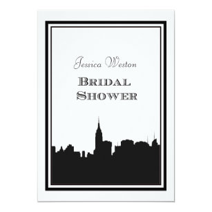 nyc skyline silhouette 2 diy bridal shower card