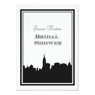 NYC Skyline Silhouette #2 DIY Bridal Shower Custom Invites