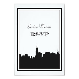 NYC Skyline Silhouette #2 DIY RSVP Custom Invite