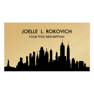 NYC Skyline Silhouette Black & White Generic Business Card