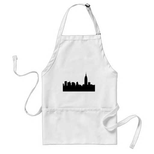 NYC Skyline Silhouette, Empire State Bldg #1 Adult Apron