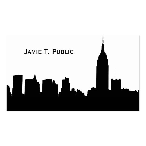 NYC Skyline Silhouette, Empire State Bldg #1 Double-Sided Standard Business Cards (Pack Of 100)