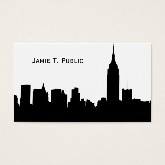 NYC Skyline Silhouette, Empire State Bldg #1 Business Card