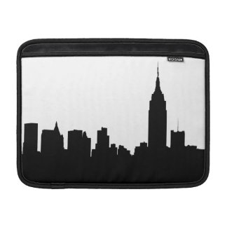 NYC Skyline Silhouette, Empire State Bldg #1 MacBook Air Sleeve