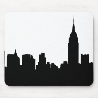 NYC Skyline Silhouette, Empire State Bldg #1 Mouse Pad