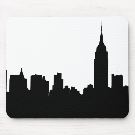 NYC Skyline Silhouette, Empire State Bldg #1 Mouse Pads