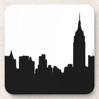 NYC Skyline Silhouette, Empire State Bldg #1 Coasters