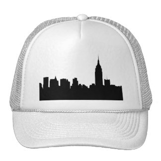 NYC Skyline Silhouette, Empire State Bldg #1 Trucker Hat