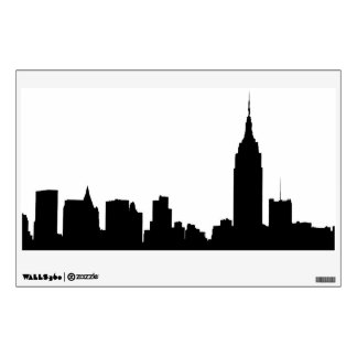 NYC Skyline Silhouette, Empire State Bldg #1 Wall Decal