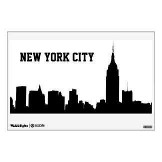 NYC Skyline Silhouette, Empire State Bldg #1 Wall Sticker