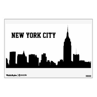 NYC Skyline Silhouette, Empire State Bldg #1 Room Sticker
