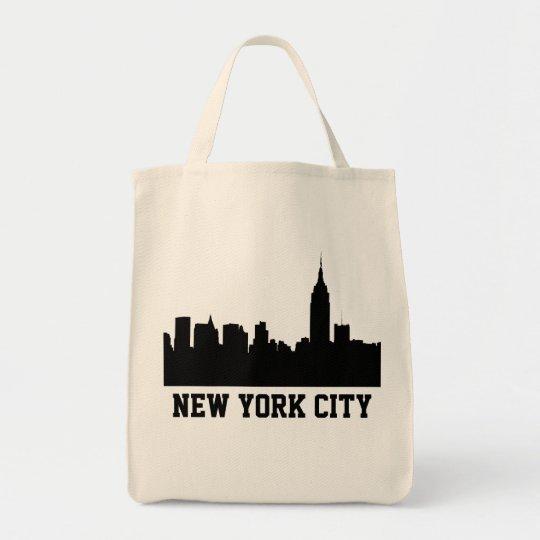 NYC Skyline Silhouette, Empire State Bldg #1A Tote Bag