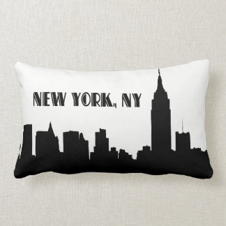 NYC Skyline Silhouette, ESB #1 Throw Pillows