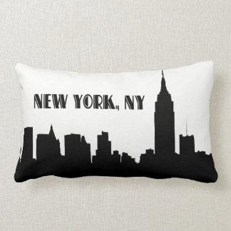 NYC Skyline Silhouette, ESB #1 Throw Pillow