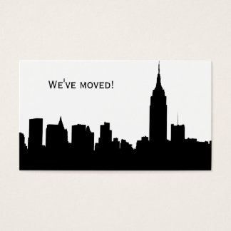 NYC Skyline Silhouette, ESB #1 - We've Moved Business Card