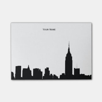 NYC Skyline Silhouette Post-it Notes