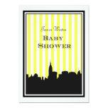 NYC Skyline Silhouette Stripe #1A DIY Baby Shower Invite