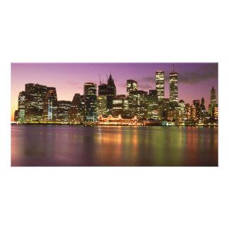 NYC Skyline & So Street Seaport Personalized Photo Card