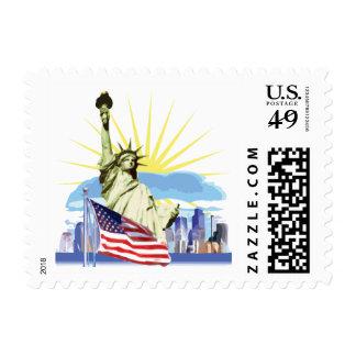 NYC Skyline Stamp