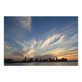 NYC Skyline Sunset Photograph