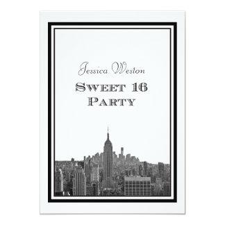NYC Skyline Top of the Rock ESB #3 DIY Sweet 16 Card