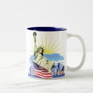 NYC Skyline Two-Tone Coffee Mug