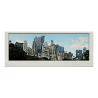 NYC Skyline Watercolor Poster Print