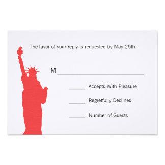 NYC Skyline Wedding RSVP Cards Custom Announcements