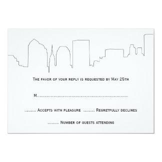 NYC Skyline Wedding RSVP Cards Custom Invitation