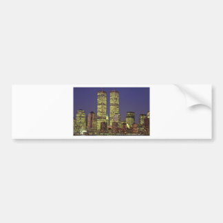 NYC Skyline With World Trade Center At Night Bumper Stickers