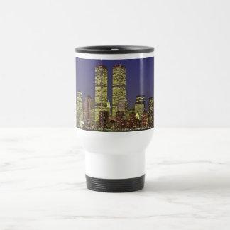 NYC Skyline With World Trade Center At Night Mugs