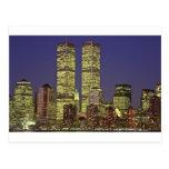 NYC Skyline With World Trade Center At Night Postcard