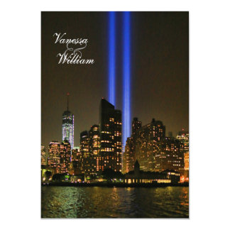 NYC Skyline: WTC 9/11 Tribute In Light #1 Wedding Card