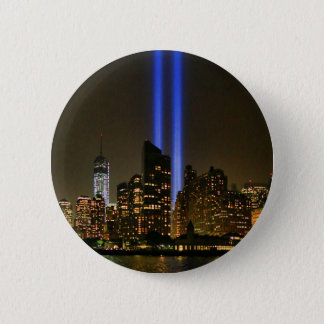 NYC Skyline: WTC  9/11 Tribute In Light 2013 #1 Button