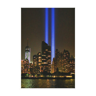 NYC Skyline: WTC  9/11 Tribute In Light 2013 #1 Canvas Print