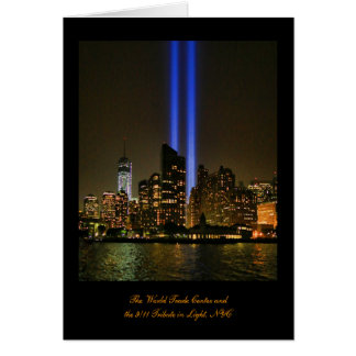 NYC Skyline: WTC  9/11 Tribute In Light 2013 #1 Card