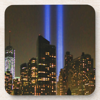 NYC Skyline: WTC  9/11 Tribute In Light 2013 #1 Drink Coaster
