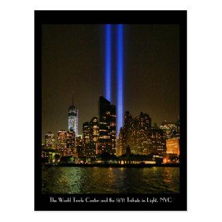 NYC Skyline: WTC  9/11 Tribute In Light 2013 #1 Postcards