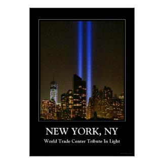 NYC Skyline: WTC  9/11 Tribute In Light 2013 #1 Poster