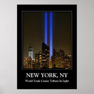 NYC Skyline: WTC  9/11 Tribute In Light 2013 #1 Print