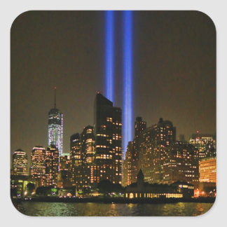 NYC Skyline: WTC  9/11 Tribute In Light 2013 #1 Square Sticker